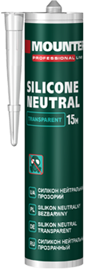 Neutral silicone sealant transparent