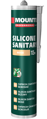 Sanitary silicone sealant beige
