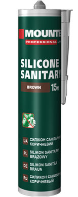 Sanitary silicone sealant brown